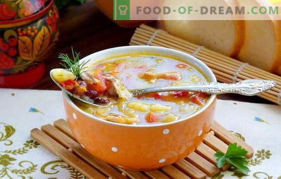 Lean Bean Soup is a simple, tasty and very diverse dish. Secrets and methods of cooking lean bean soup