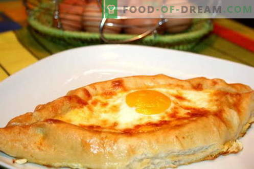 Khachapuri - the best recipes. How to properly and tasty cook khachapuri.