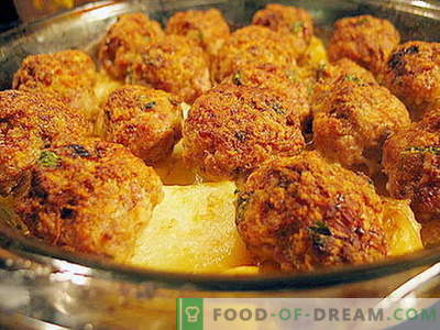 Meatballs in the oven - proven recipes. How to properly and tasty cooked meatballs in the oven.