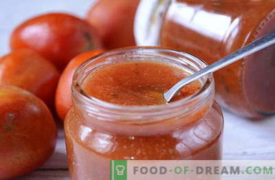 A unique recipe for natural homemade ketchup - make a note so as not to forget