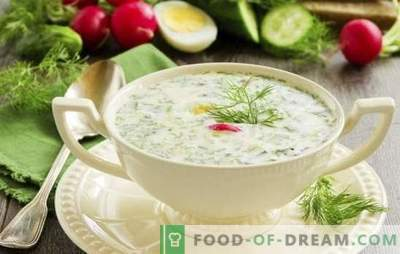 Okroshka on tan - freshness with sourness. Recipes for a tasty cold soup: okroshka on a tan with meat, sausage, seafood