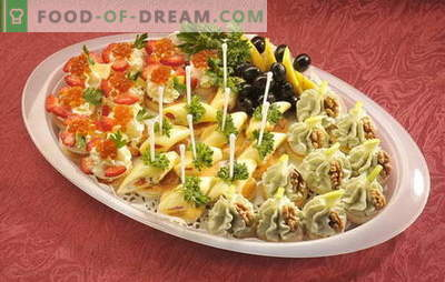 Birthday canapé - the table will be bright! Different versions of canapes sandwiches for birthdays and other holidays