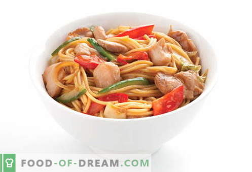 Chicken noodles are the best recipes. How to properly and tasty cook soup and homemade noodles with chicken.
