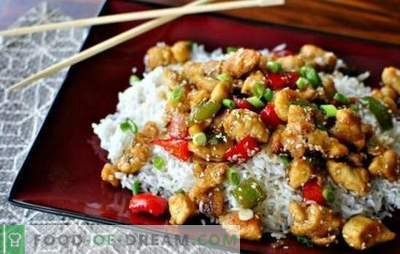 A bit of fantasy: chicken fillet with rice is more delicious than delicacies. Light chicken fillet dishes with rice and sour cream, beans and mushrooms