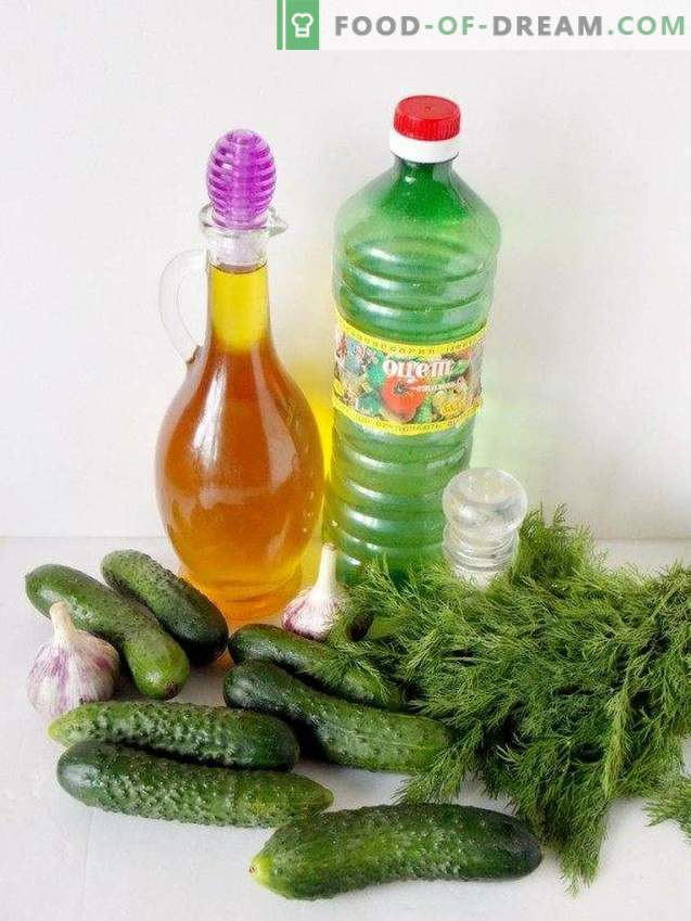 Salted cucumbers in 15 minutes