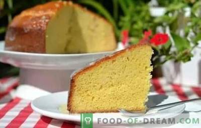 Brewed sponge cake - feel like a real pastry chef! Recipes for custard sponge cake and desserts with him