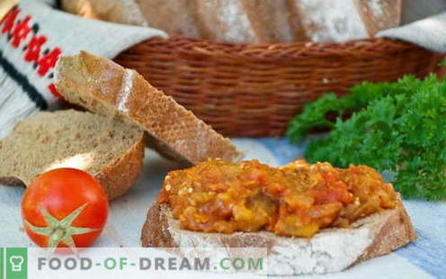 Eggplant caviar - the best recipes. How to properly and tasty cook eggplant caviar.