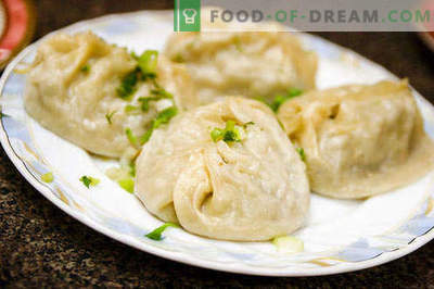 Manty - the best recipes. How to properly and tasty cook manti.
