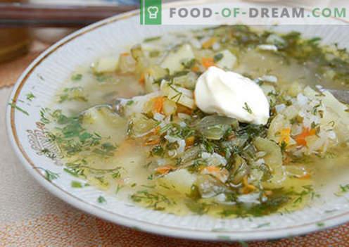Leningrad rassolnik - the best recipes. How to properly and tasty cook rassolnik Leningrad.