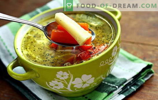 Lean vegetable soup - for vegetarians and fasting. Recipes cooking lean vegetable soup