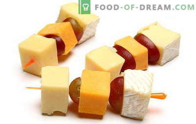 Canapes with cheese - an impeccable snack for any celebration. The best recipes for canapes with cheese: simple and unusual