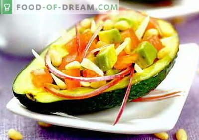 Avocado Salad - the best recipes. How to properly and tasty to prepare a salad with avocado.