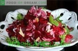 Beet salads, simple recipes.