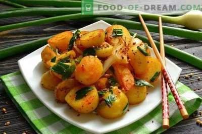 Gebratene indische Kartoffeln in Gewürzen