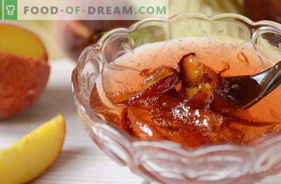 Peach jam for the winter recipe with a photo