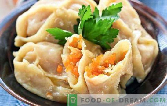 Manty with pumpkin and meat - Asian flavor. Several ways of cooking one dish - manti with pumpkin and meat