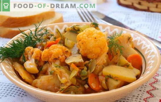 The most popular stew is vegetable, with cabbage and potatoes. Recipes for lax fasting - vegetable stew with cabbage and potatoes