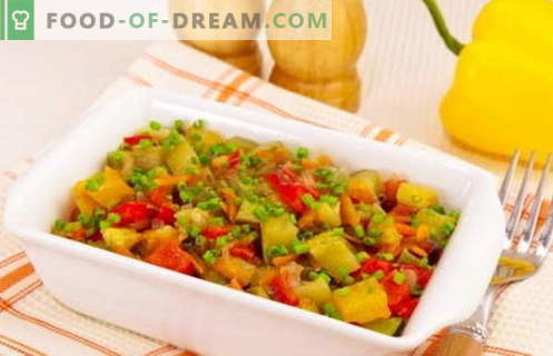 Geschmorte Zucchini - die besten Rezepte. Wie man richtig und lecker gekochte gedünstete Zucchini kocht.