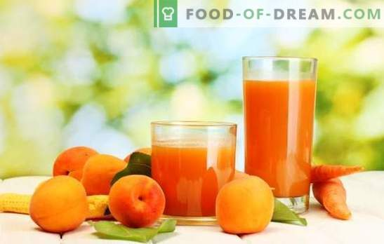 Apricot juice for the winter - sunny drink! Different ways of harvesting apricot juice for the winter at home