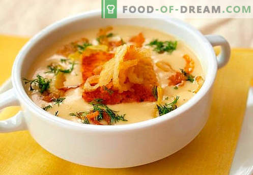 Cheese cream soup - the best recipes. How to properly and tasty cook cheese soup.