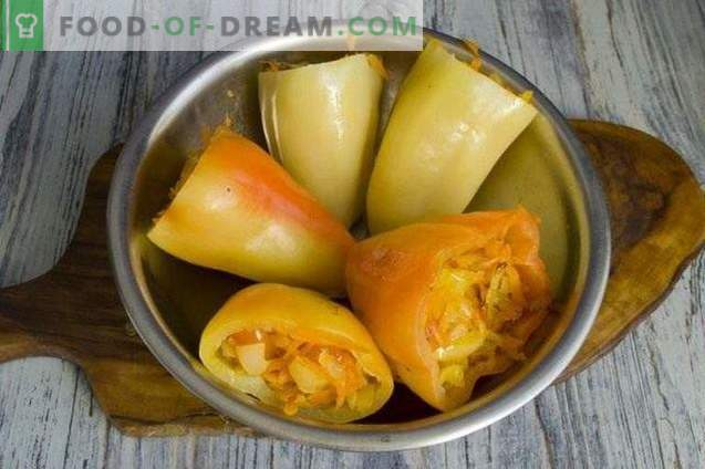 Stuffed peppers in tomato sauce for the winter