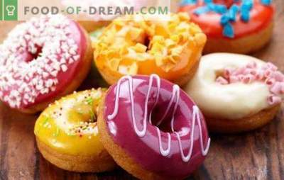 American donuts - they are bright donats! Recipes for various American donuts with icing and fillings