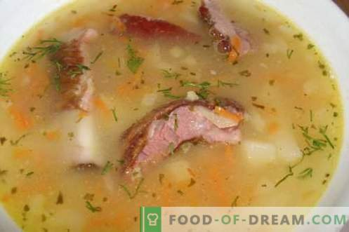 Pea soup - the best recipes. How to properly and tasty cook pea soup.