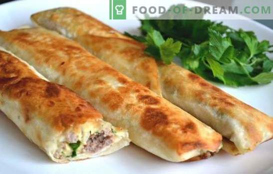 Lavash pies with minced meat - a delicious snack in a few minutes. How to quickly and tasty cook lavash pies with minced meat