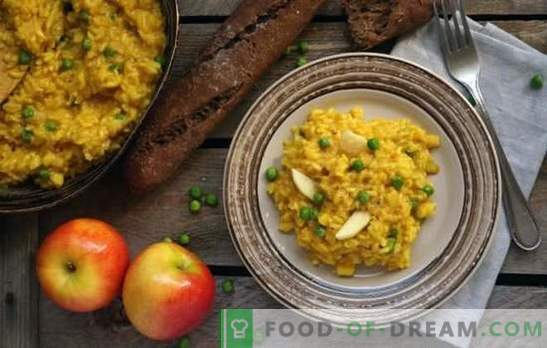 Lenten risotto - Italian meatless pilaf! Recipes for lean risotto with mushrooms, vegetables, avocados, pears, pumpkin