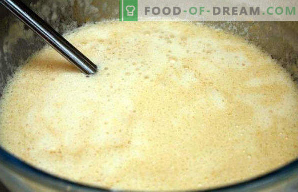 Yeast dough for pancakes, lean, sour, without eggs