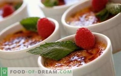 How to make creme brulee at home. Incredible variety of cooking methods for creme brulee