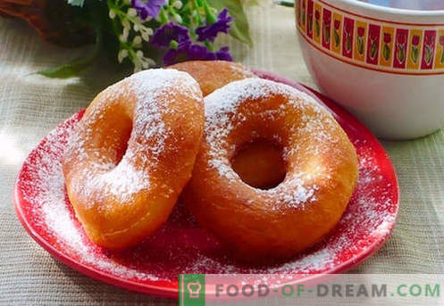Donuts are the best recipes. How to properly and tasty to cook donuts for yogurt and cheese donuts.