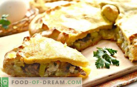Chicken kurnik with potatoes: a step-by-step recipe for Russian pie. How to cook chicken chicken with potatoes (step-by-step recipes)