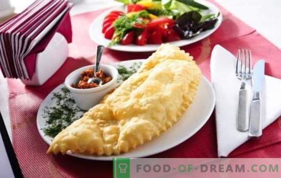 Crimean chebureks at home - legendary pies! Recipes for juicy, Crimean chebureks with meat, cheese, vegetables, mushrooms