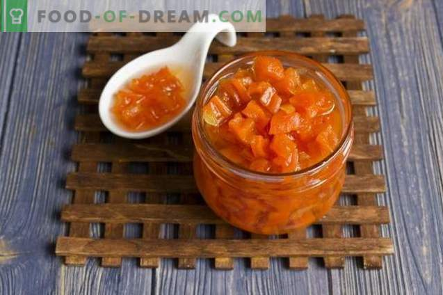Carrot jam with ginger and lemon