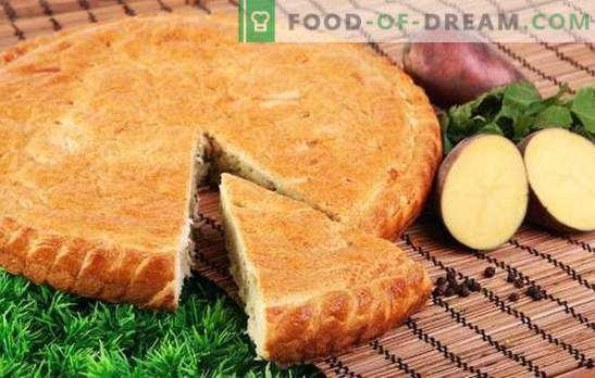 Potato pie with potatoes - not even a crumb! Simple recipes of jellied pies on mayonnaise, sour cream, kefir and ryazhenka
