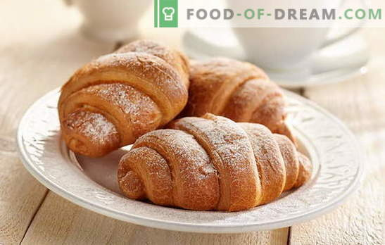 Croissants with condensed milk - so delicious! Croissants with condensed milk recipes: from yeast, shortcake, cottage cheese dough