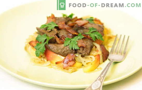 Chicken liver with onions - cook for parents, children and