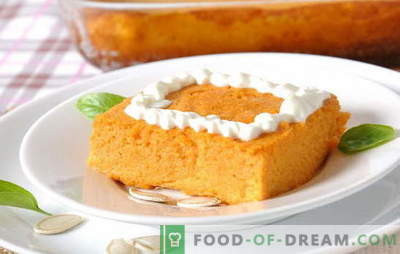 Cottage cheese casserole with pumpkin is a rosy joy for children and adults. Recipes best curd casseroles with pumpkin