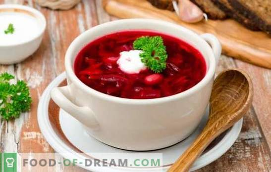 Borsch with fresh beets - dinner will be bright! Recipes of different borscht with fresh beets for an appetizing menu