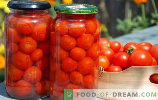 We harvest homemade tomatoes for the winter. The best recipes for canning homemade tomatoes for the winter