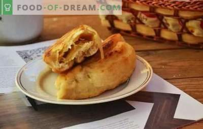Patties with cabbage - Russian fast food in step-by-step recipes. Types of dough for cabbage pies - step-by-step recipes and cooking secrets