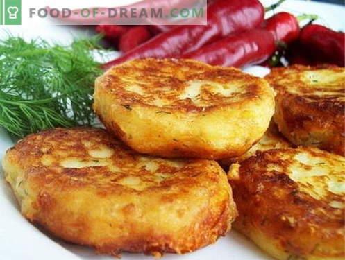 Potato patties are the best recipes. How to cook potato patties.