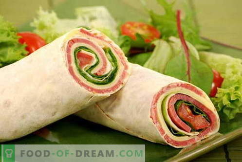 Lavash roll - the best recipes. How to properly and tasty cook roll of pita.