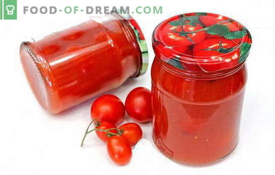 Tomatoes in tomato paste - interesting recipes for an interesting preparation. How to cook delicious tomatoes in tomato paste