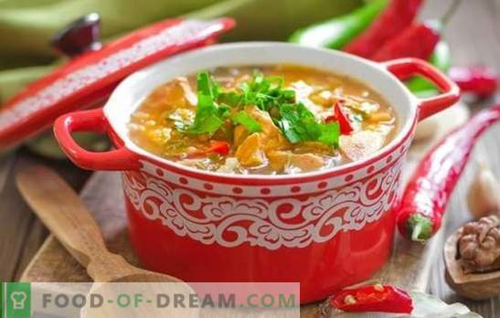 Pork Kharcho soup: rich, thick and spicy. The best recipes of pork kharcho soup - a cult Georgian dish