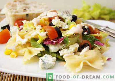 Salad with olives - five best recipes. How to properly and deliciously prepare a salad with olives.