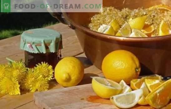 Dandelion jam with lemon - a useful sweetness! Variants of dandelion jam with lemon, mandarin, mint, apple, pomegranate