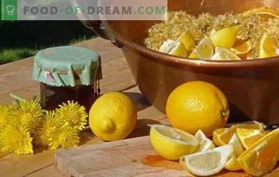 Dandelion jam with lemon - a useful sweetness! Variants of dandelion jam with lemon, mandarin, mint, apple, pomegranate