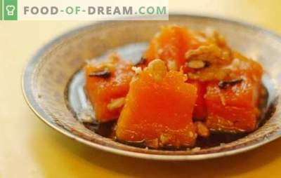 Steamed pumpkin: on the stove, in the oven, multi-cooker, double boiler. Steamed pumpkin with sugar, honey, garlic, dried apricots and apples